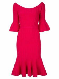Hervé Léger Off The Shoulder Braided dress - Red