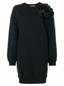 MSGM embellished shoulder sweater dress - Black