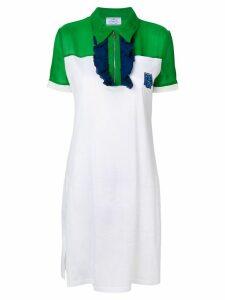 Prada ruffle trimmed polo-dress - White