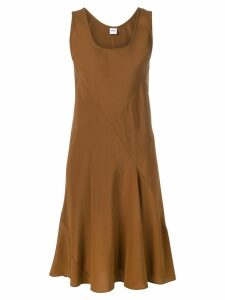 Aspesi sleeveless pleated detail dress - Brown