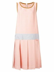Marni check print shift dress - Pink