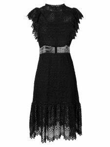 Philosophy Di Lorenzo Serafini short sleeve lace dress - Black