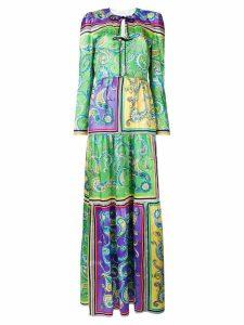 Philosophy Di Lorenzo Serafini long print tunic dress - Green