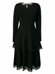 Stella McCartney tiered lace detail dress - Black