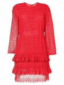 Philosophy Di Lorenzo Serafini longsleeved lace dress - Red