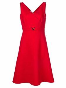 Valentino V hardware dress - Red