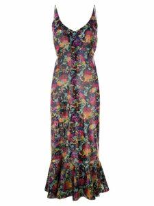 Saloni floral prnted midi dress - Multicolour
