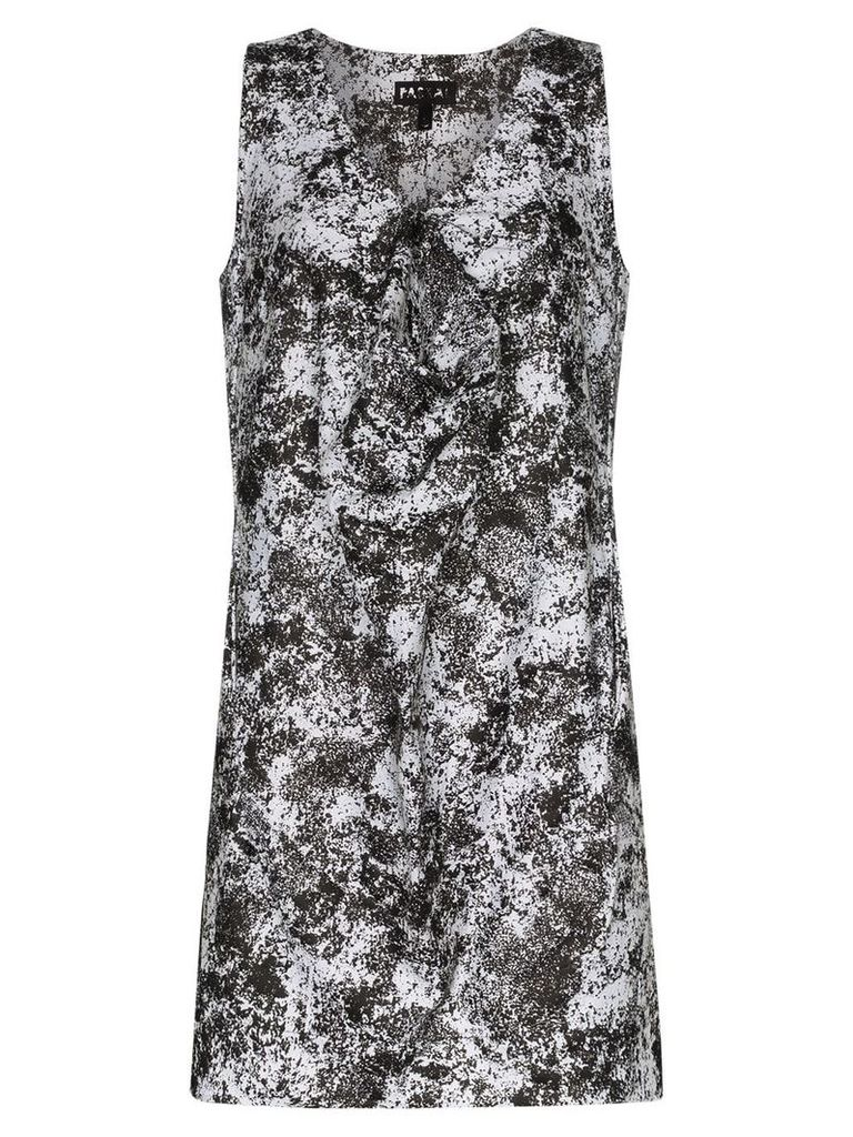 Paskal Lunar print front detail dress - Black
