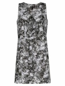 Paskal Lunar print front detail dress - Black