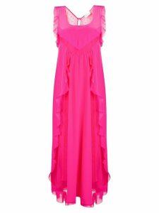Red Valentino shift ruffle dress - Pink