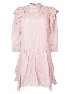Isabel Marant Étoile short embroidered dress - Pink