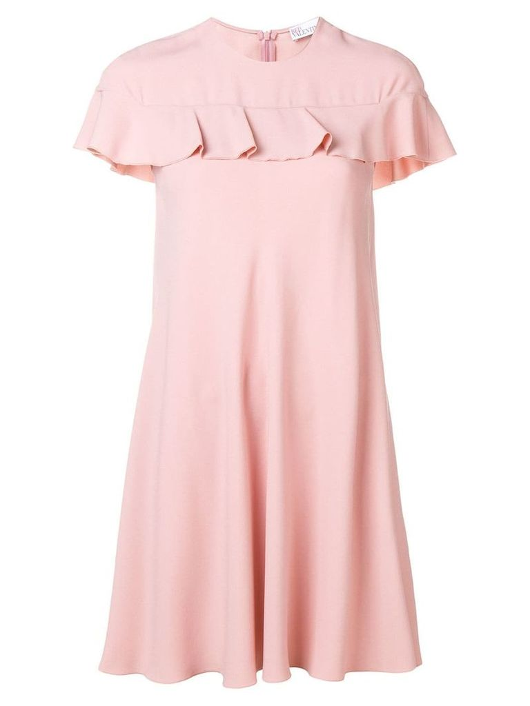 Red Valentino ruffle trimmed dress - Pink