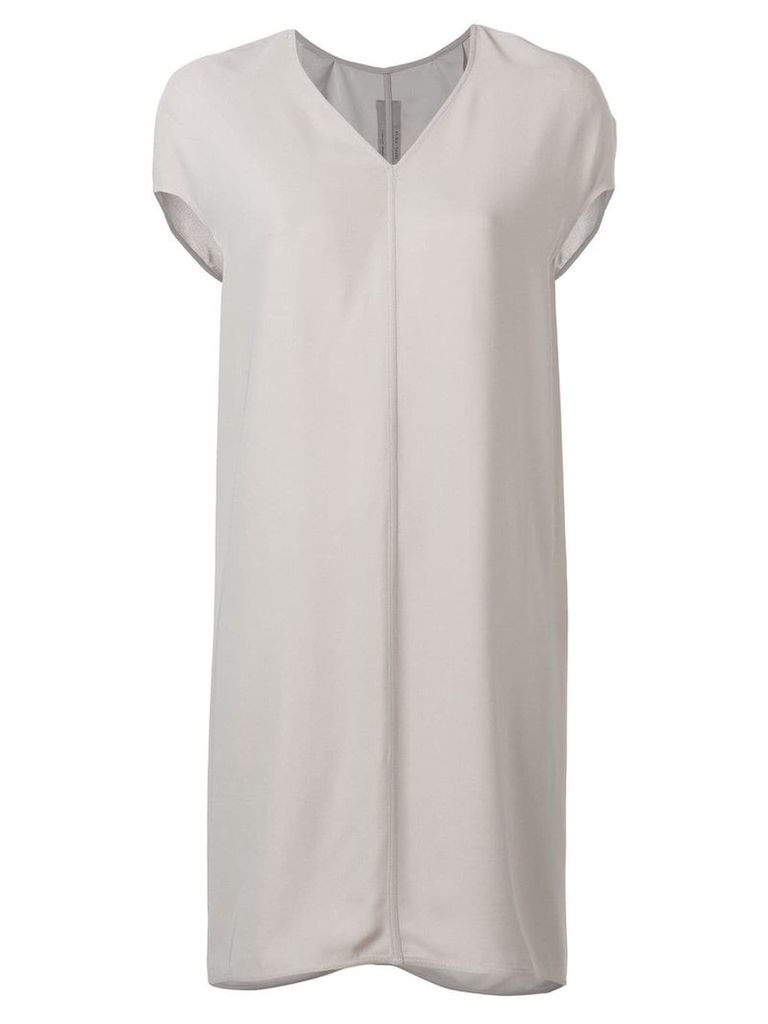 Rick Owens v-neck shift dress - Grey