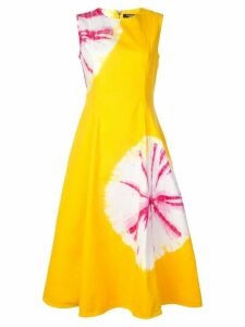 Calvin Klein 205W39nyc flower stamps dress - Yellow
