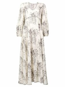 Zimmermann Wayfarer pineapple printed dress - White