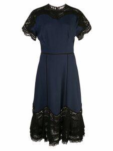 Jonathan Simkhai lace panel midi dress - Blue