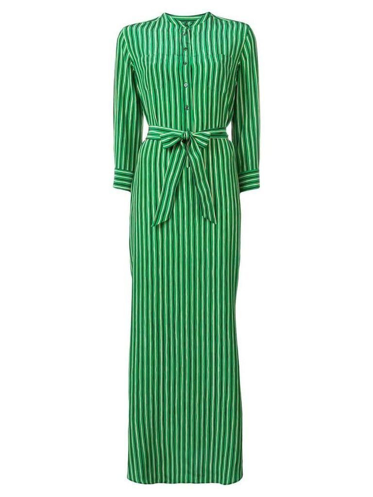 Aspesi striped maxi dress - Green