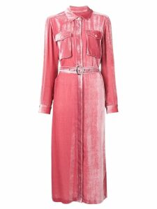 Sies Marjan velvet shirt dress - Pink