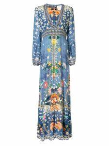 Camilla floral print kaftan dress - Blue