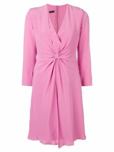 Emporio Armani V-neck knot dress - Pink