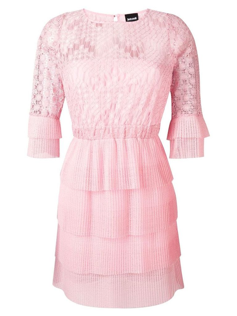 Just Cavalli lace-embroidered dress - Pink