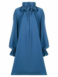 Mm6 Maison Margiela pleated off-the-shoulder dress - Blue