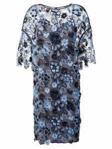 Antonio Marras floral embroidered shift dress - Blue
