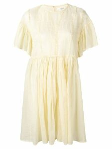 Isabel Marant Étoile embroidered summer dress - Yellow
