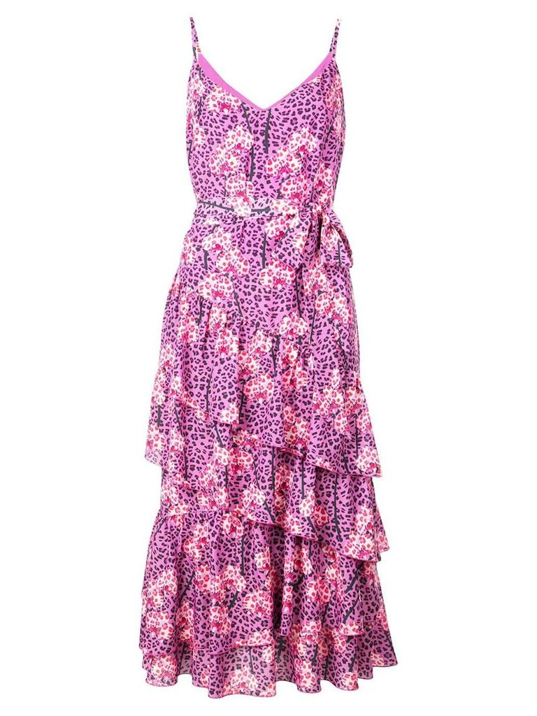 Borgo De Nor leopard print tiered dress - Pink