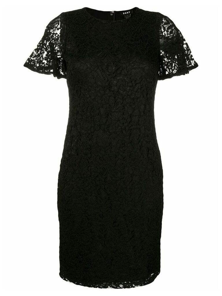 DKNY fitted lace dress - Black