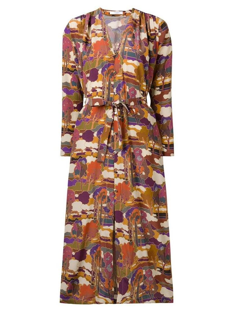 Roseanna tree print maxi dress - Neutrals