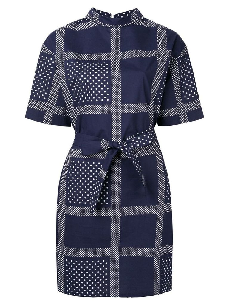 Roseanna printed belted dress - Blue