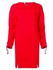 Karl Lagerfeld logo print sweatshirt dress - Red