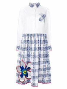 Mira Mikati flower embroidered shirt dress - White
