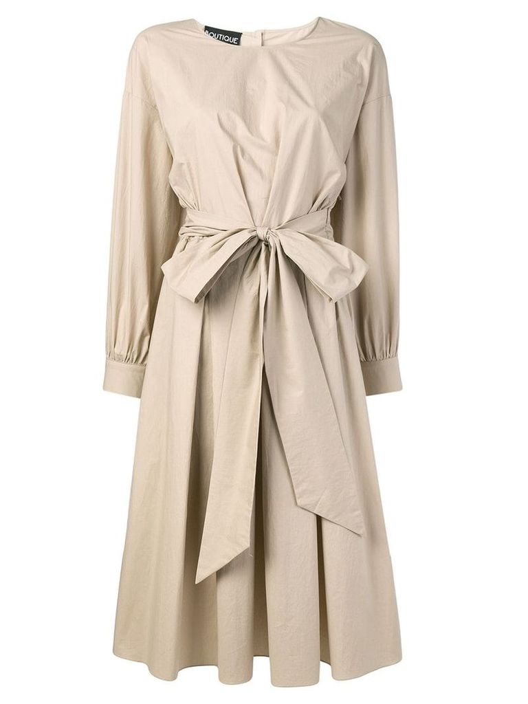 Boutique Moschino oversized bow dress - Neutrals