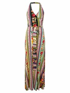 Etro patchwork belted maxi dress - Purple