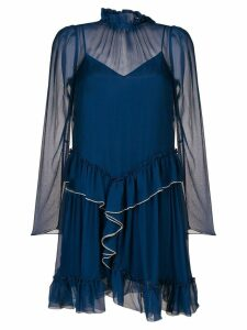 See By Chloé ruffle detailed dress - Blue