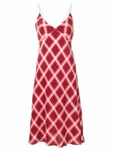 Marc Jacobs plaid spaghetti-strap dress - Red