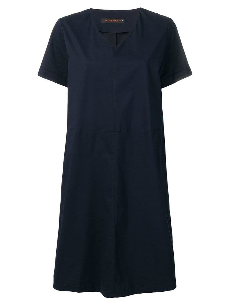 Incentive! Cashmere oversized v-neck dress - Blue
