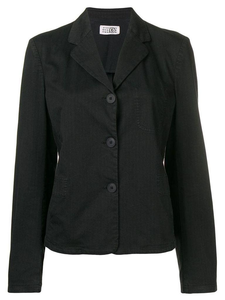 Maison Martin Margiela Vintage 2000 pinstriped jacket - Black