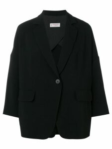 Alberto Biani oversized button blazer - Black