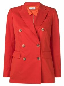 Alberto Biani double breasted blazer - Orange