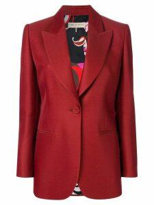 Emilio Pucci longline bow-embellished blazer - Red