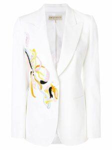 Emilio Pucci embroidered tuxedo blazer - White