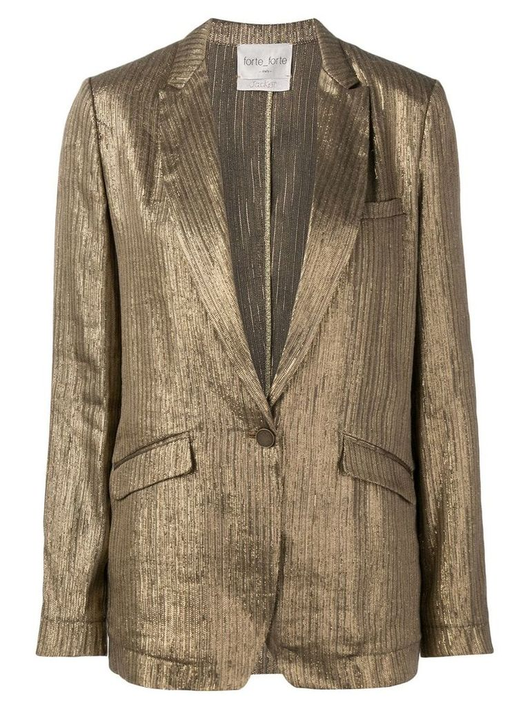 Forte Forte shimmer fitted blazer - Gold
