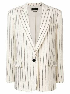 Isabel Marant pinstripe textured blazer - White