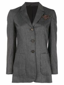 Brunello Cucinelli embellished tailored blazer - Blue