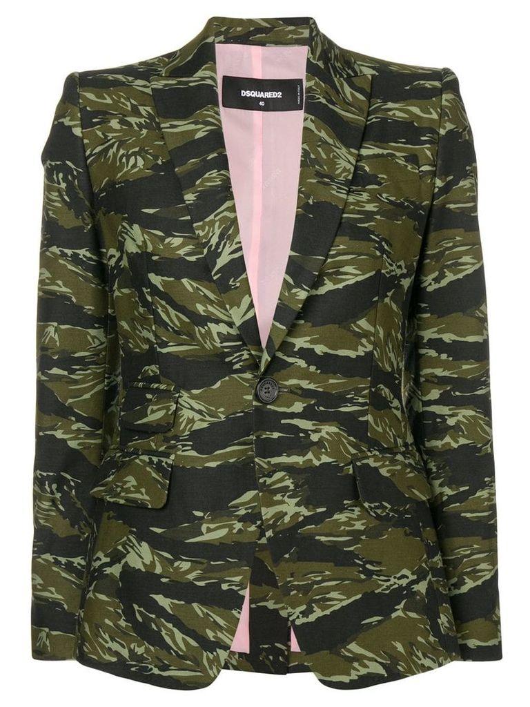 Dsquared2 camouflage print blazer - Green