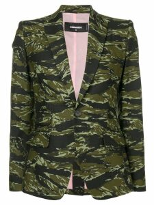 Dsquared2 camouflage print blazer - Green