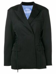 Mugler drawstring detail blazer - Black